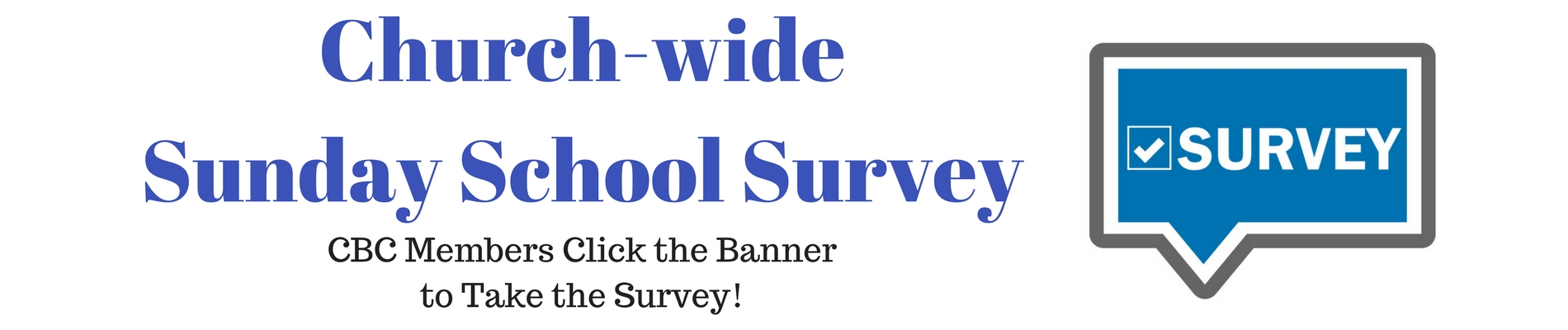 Church-wideSunday school Survey